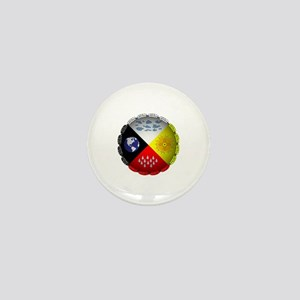 Medicine Wheel Mini Button
