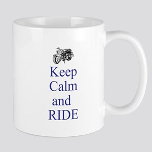 Keep calm and ride Mugs