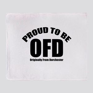 Proud To Be OFD Throw Blanket