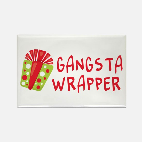 Gangsta Wrapper | Funny Christmas Magnets