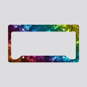 butterfly rainbow License Plate Holder