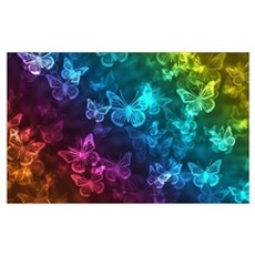 butterfly rainbow Framed Print