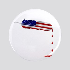 Eagle Feather Flag Button