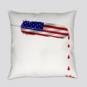 Eagle Feather Flag Everyday Pillow