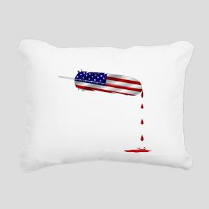 Eagle Feather Flag Rectangular Canvas Pillow