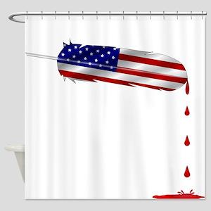 Eagle Feather Flag Shower Curtain