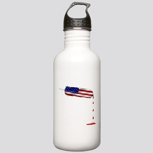 Eagle Feather Flag Water Bottle
