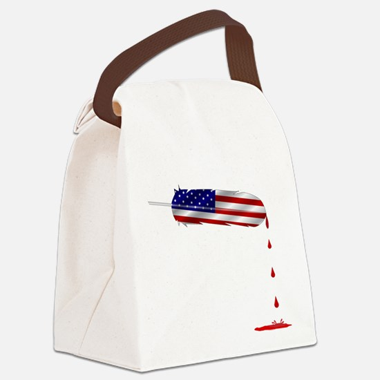 Eagle Feather Flag Canvas Lunch Bag