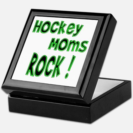 Hockey Moms Rock ! Keepsake Box