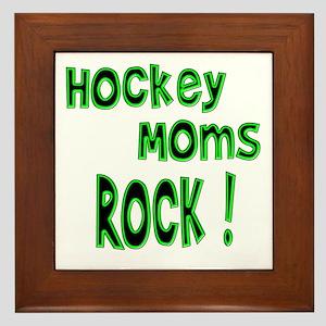 Hockey Moms Rock ! Framed Tile