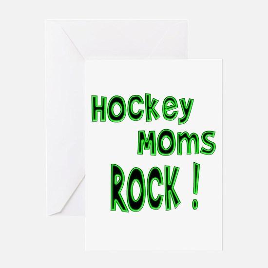 Hockey Moms Rock ! Greeting Card