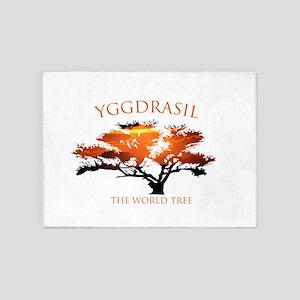 Yggdrasil- The World Tree 5'x7'Area Rug