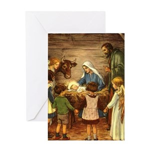 nativity greeting cards cafepress - Nativity Christmas Cards