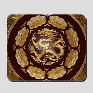 Chinese dragon plaque Mousepad