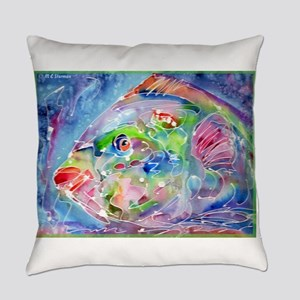 Tropical Fish! Colorful art! Everyday Pillow