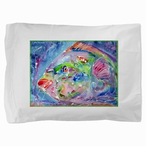 Tropical Fish! Colorful art! Pillow Sham