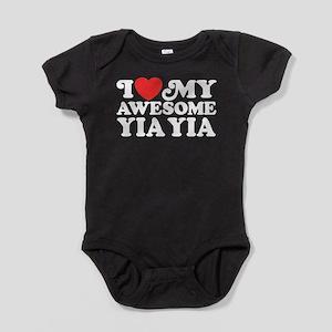 I Love My Awesome Yia Yia Baby Bodysuit