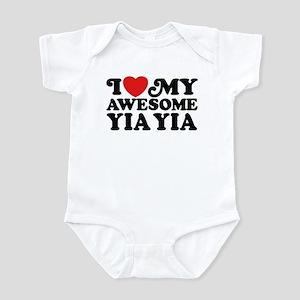 I Love My Awesome Yia Yia Infant Bodysuit