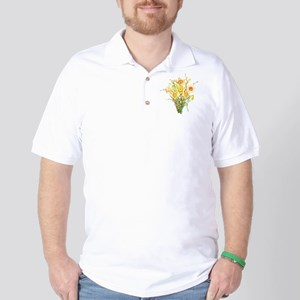 Watercolor Daffodils Spring Flowers  Golf Shirt