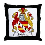 Godden Family Crest Throw Pillow