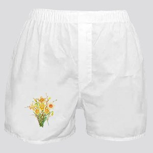 Watercolor Daffodils Spring Flowers Boxer Shorts