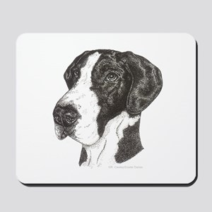 Natural Mantle Great Dane in dots Mousepad