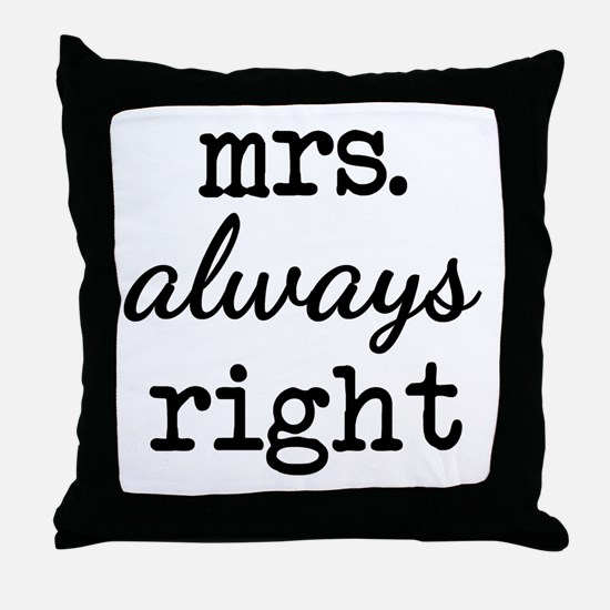 Cute Happy wife happy life Throw Pillow