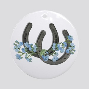 Forget me not horseshoes Ornament (Round)