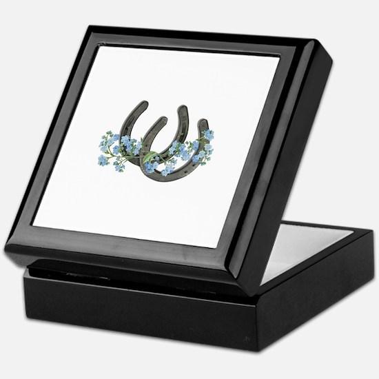 Forget me not horseshoes Keepsake Box