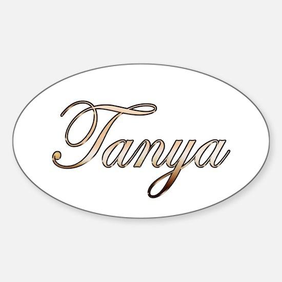 Gold Tanya Decal