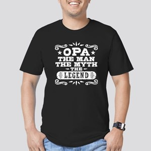 Funny Opa Men's Fitted T-Shirt (dark)