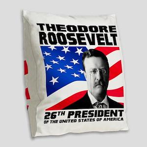 26 Roosevelt Burlap Throw Pillow
