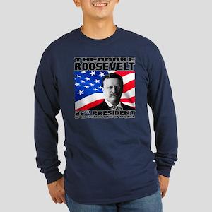 26 Roosevelt Long Sleeve Dark T-Shirt
