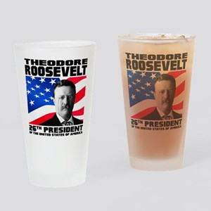 26 Roosevelt Drinking Glass