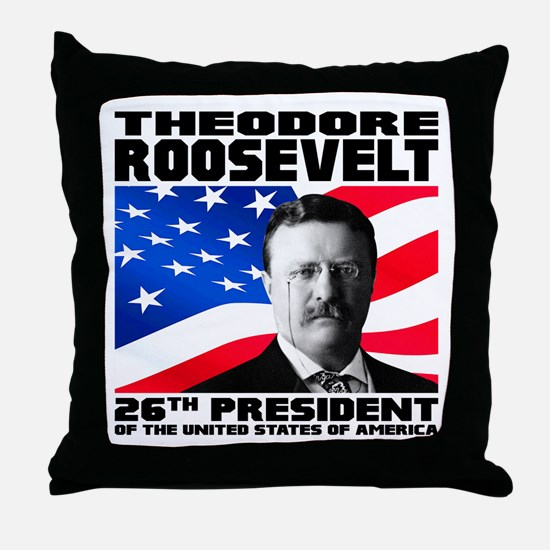 26 Roosevelt Throw Pillow