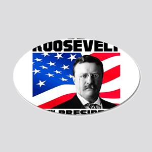 26 Roosevelt 20x12 Oval Wall Decal