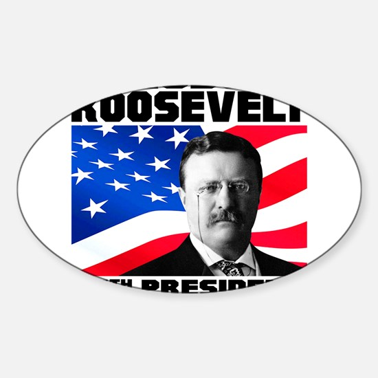 26 Roosevelt Sticker (Oval)