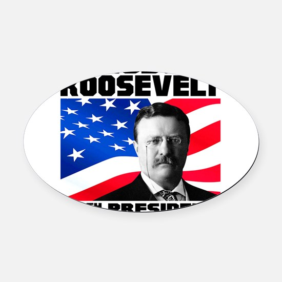 26 Roosevelt Oval Car Magnet
