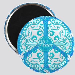 funky peace sign Magnet