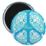 """funky peace sign 2.25"""" Magnet (10 pack)"""
