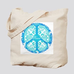 funky peace sign Tote Bag