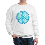 funky peace sign Sweatshirt