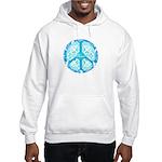 funky peace sign Hooded Sweatshirt
