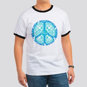 funky peace sign Ringer T