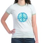 funky peace sign Jr. Ringer T-Shirt