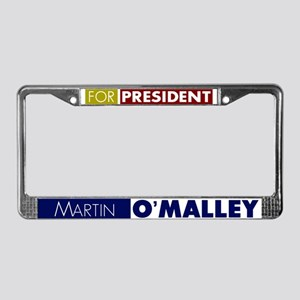 Martin O'Malley for President License Plate Frame