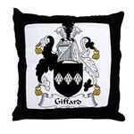 Giffard Family Crest Throw Pillow