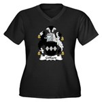 Giffard Family Crest Women's Plus Size V-Neck Dark