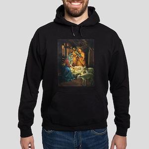 Vintage Christmas Nativity Hoodie (dark)