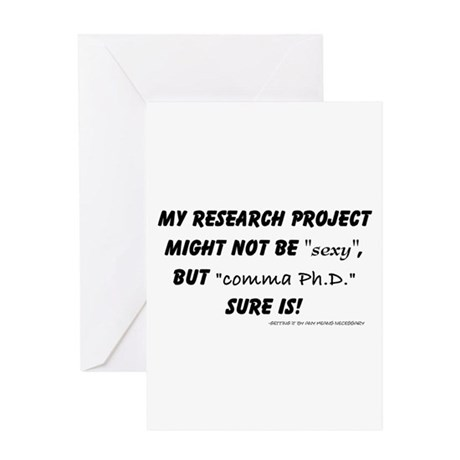 commaphd Greeting Cards